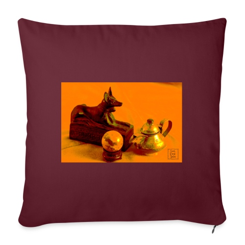 Anubi nel deserto - Copricuscino per divano, 45 x 45 cm