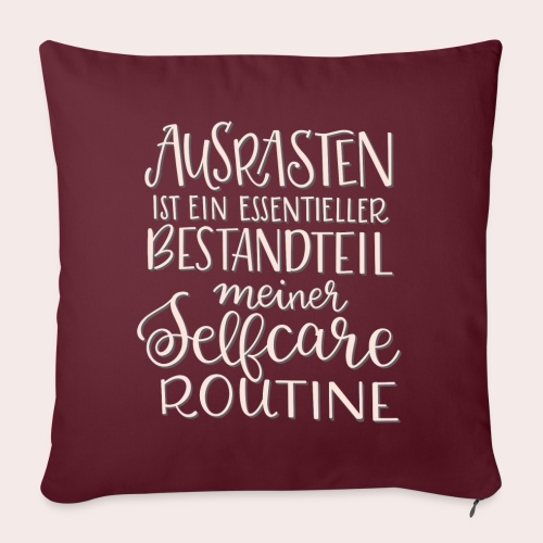Selfcare Routine - Sofakissenbezug 44 x 44 cm