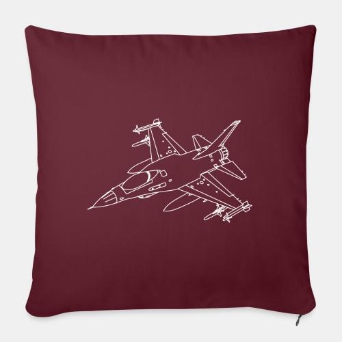F-16 Viper / Fighting Falcon jet fighter / F16 - Sofa pillowcase 17,3'' x 17,3'' (45 x 45 cm)