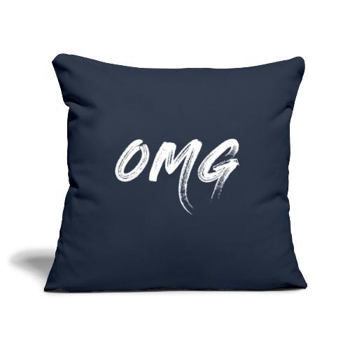 OMG, valkoinen - Sohvatyynyn päällinen 45 x 45 cm