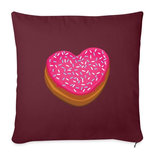 Donitsi - donut - Sohvatyynyn päällinen 45 x 45 cm