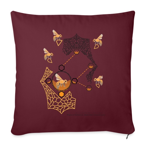 Busy Bees - Sofa pillowcase 17,3'' x 17,3'' (45 x 45 cm)