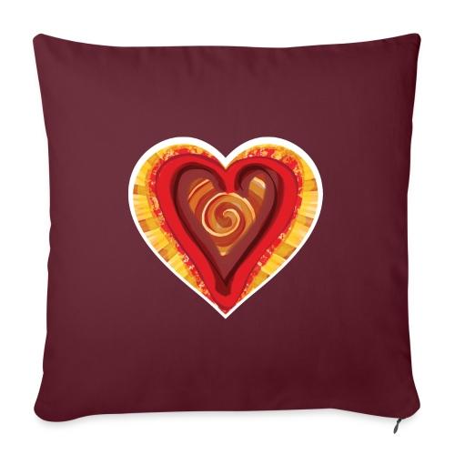 Chocolat love - Sofa pillowcase 17,3'' x 17,3'' (45 x 45 cm)