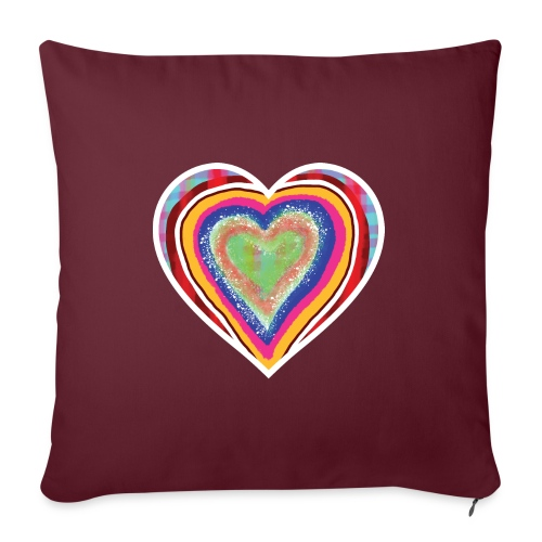 A heart in hearts is pure love on many levels - Sofa pillowcase 17,3'' x 17,3'' (45 x 45 cm)