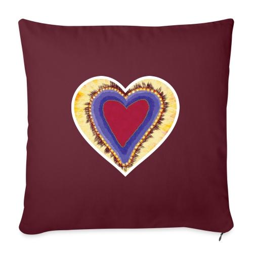 Red heart passion Symbol - Sofa pillowcase 17,3'' x 17,3'' (45 x 45 cm)