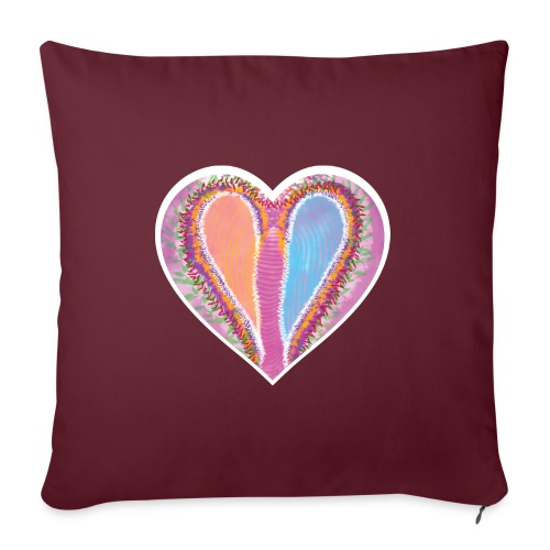 Hearts dont split, they get wings - Sofa pillowcase 17,3'' x 17,3'' (45 x 45 cm)