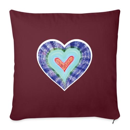 HeartSpread 18Little red heart in a green garden - Sofa pillowcase 17,3'' x 17,3'' (45 x 45 cm)