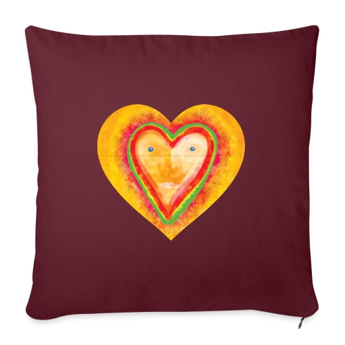 Heartface - Sofa pillowcase 17,3'' x 17,3'' (45 x 45 cm)