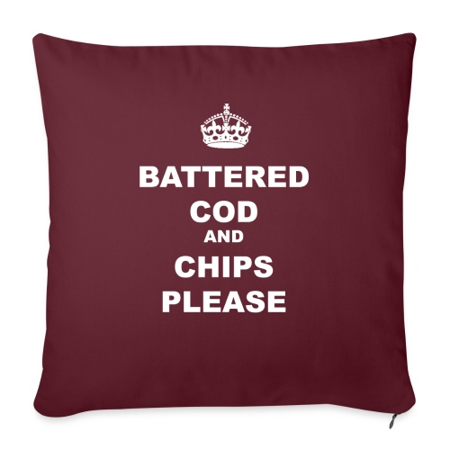 BATTERED COD AND CHIPS PLEASE - Sofa pillowcase 17,3'' x 17,3'' (45 x 45 cm)