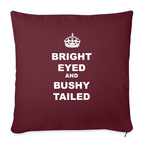 BRIGHT EYED AND BUSHY TAILED - Sofa pillowcase 17,3'' x 17,3'' (45 x 45 cm)
