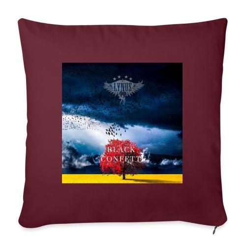 Black Confetti Promo Design - Sofa pillowcase 17,3'' x 17,3'' (45 x 45 cm)