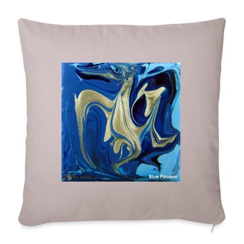 TIAN GREEN Welt Mosaik - AT042 Blue Passion - Sofakissenbezug 44 x 44 cm