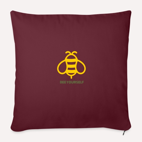 Bee Yourself Print Design. Stand Out Of The Crowd. - Sofa pillowcase 17,3'' x 17,3'' (45 x 45 cm)