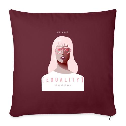 feminist t shirt design creator featuring - Funda de cojín, 45 x 45 cm