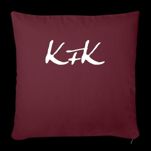 KFK logo blanco - Funda de cojín, 45 x 45 cm