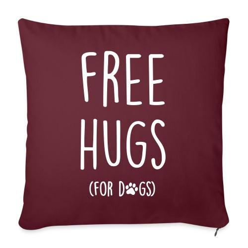 Vorschau: free hugs for dogs - Sofakissenbezug 44 x 44 cm