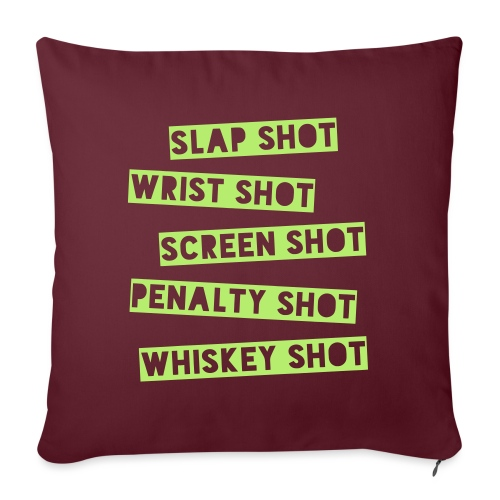 Hockey Shots - Sofa pillowcase 17,3'' x 17,3'' (45 x 45 cm)