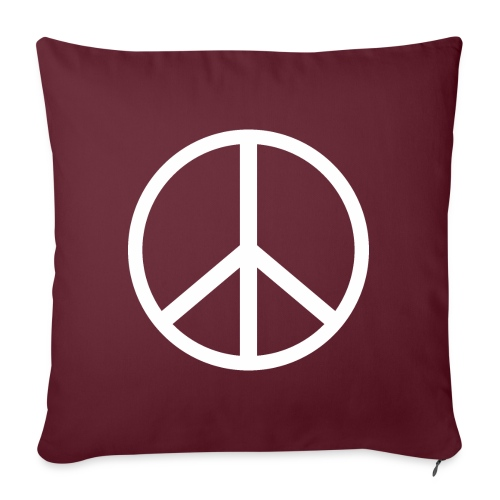 Símbolo de la paz blanco - Funda de cojín, 45 x 45 cm