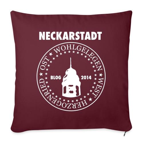 Neckarstadt – Blog seit 2014 (Logo hell) - Sofakissenbezug 44 x 44 cm