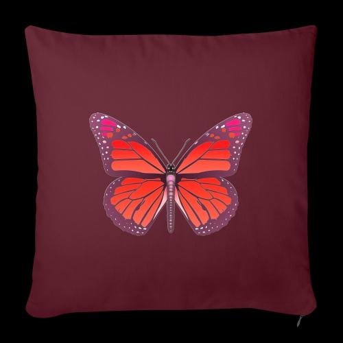 D28 monarch butterfly red lajarindream 4500px - Funda de cojín, 45 x 45 cm