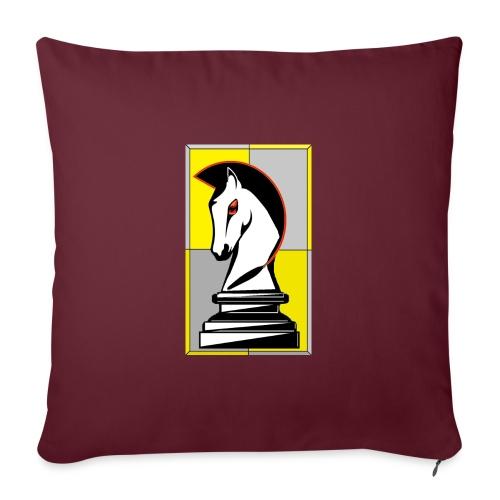 cavallo Scacchi Vers 2 - Copricuscino per divano, 45 x 45 cm