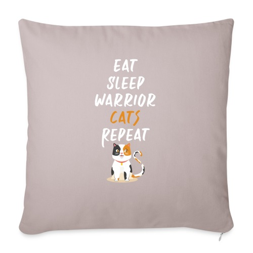 Eat sleep warrior cats repeat - Housse de coussin décorative 45 x 45 cm
