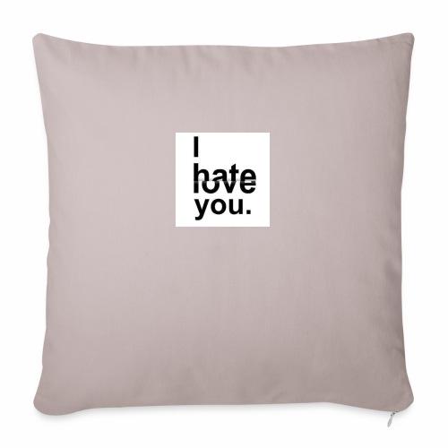 love hate - Sofa pillowcase 17,3'' x 17,3'' (45 x 45 cm)