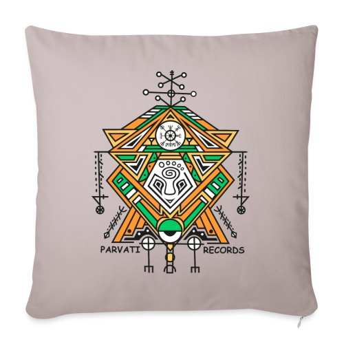Parvati Records Vegvísir - Sofa pillowcase 17,3'' x 17,3'' (45 x 45 cm)
