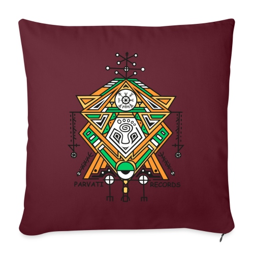 Parvati Records Vegvísir - Sofa pillowcase 17,3'' x 17,3'' (45 x 45 cm)