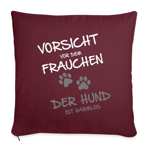 Vorschau: Vorsicht vor dem Frauchen - Sofakissenbezug 44 x 44 cm