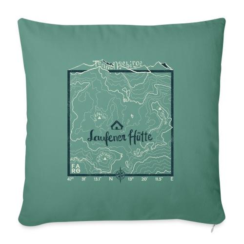 Laufener Hütte im Tennengebirge - Green - Sofa pillowcase 17,3'' x 17,3'' (45 x 45 cm)