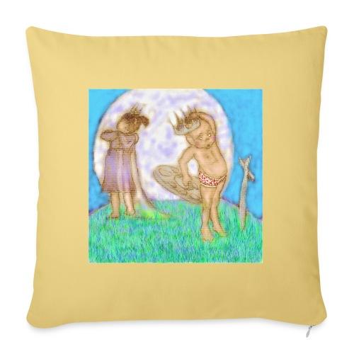 Arthur & Guinevere.. before things got complicated - Sofa pillowcase 17,3'' x 17,3'' (45 x 45 cm)