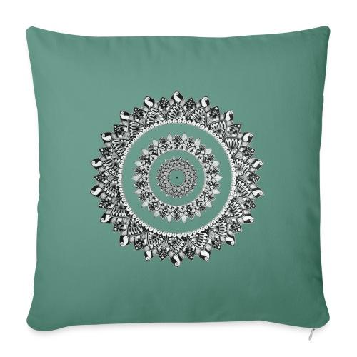 Mandala Black&White - Copricuscino per divano, 45 x 45 cm
