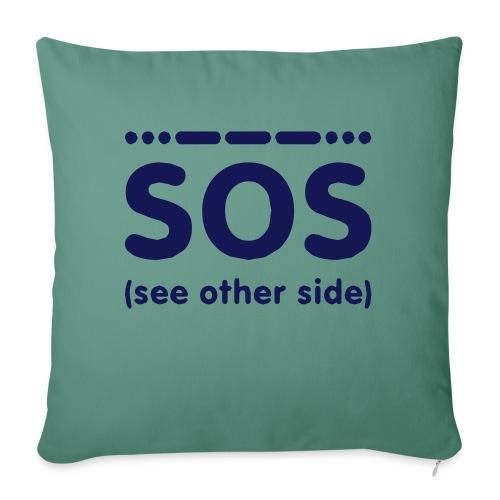SOS - Sierkussenhoes, 45 x 45 cm