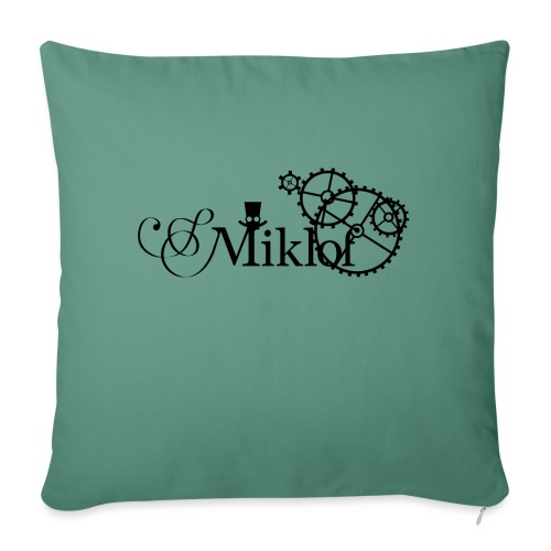 miklof logo black 3000px - Sofa pillowcase 17,3'' x 17,3'' (45 x 45 cm)