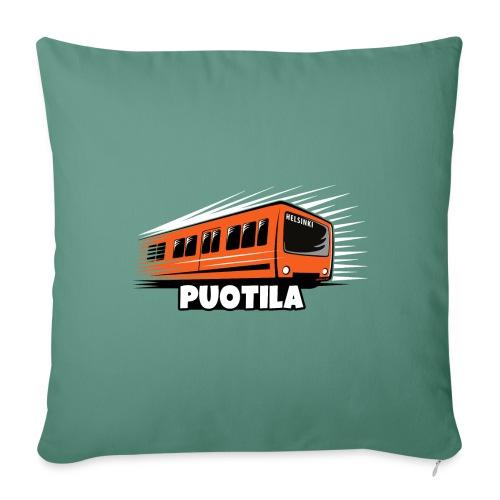 HELSINKI PUOTILA METRO T-Shirts, Hoodies, Gifts - Sohvatyynyn päällinen 45 x 45 cm