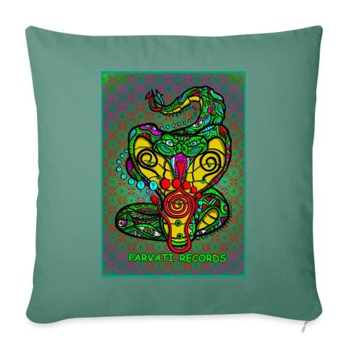 Parvati Snake by Hamster Art - Sofa pillowcase 17,3'' x 17,3'' (45 x 45 cm)