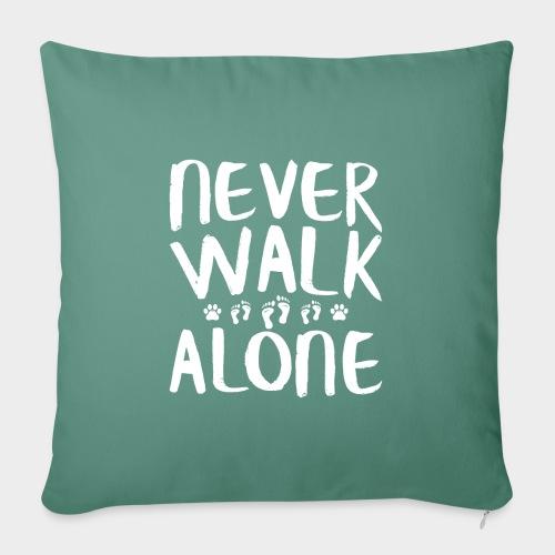 Never Walk Alone Hund - Sofakissenbezug 44 x 44 cm