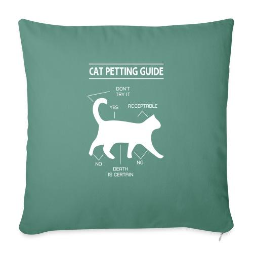 CAT GUIDE - Housse de coussin décorative 45x 45cm