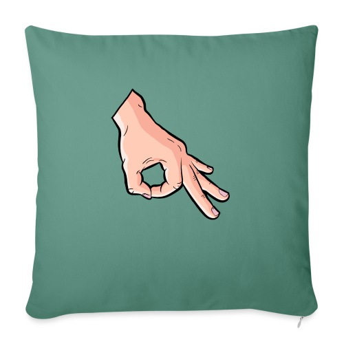 The Circle Game Ok Emoji Meme - Sofa pillowcase 17,3'' x 17,3'' (45 x 45 cm)