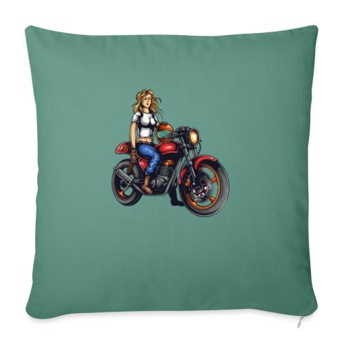 Girl on Bike - Sofa pillowcase 17,3'' x 17,3'' (45 x 45 cm)