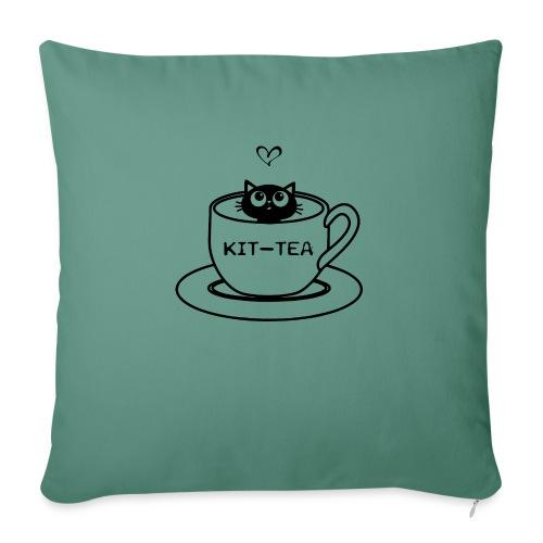CAT TEA - Housse de coussin décorative 45x 45cm