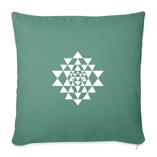 Valkoinen Shri Yantra -kuvio - Sohvatyynyn päällinen 45 x 45 cm