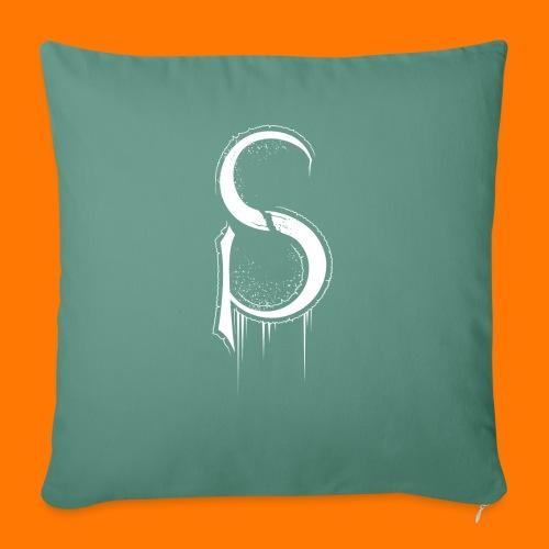 SCP-sign-WHITE transp - Sofa pillowcase 17,3'' x 17,3'' (45 x 45 cm)