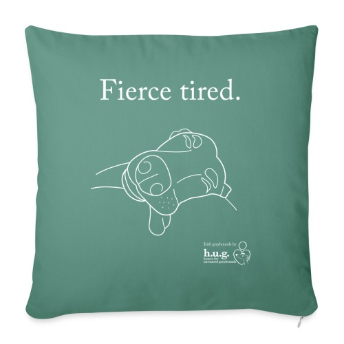 Fierce Tired Greyhound - Sofa pillowcase 17,3'' x 17,3'' (45 x 45 cm)