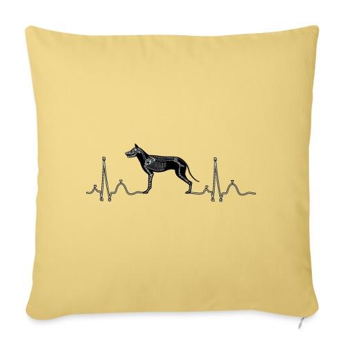 ECG met hond - Sierkussenhoes, 45 x 45 cm