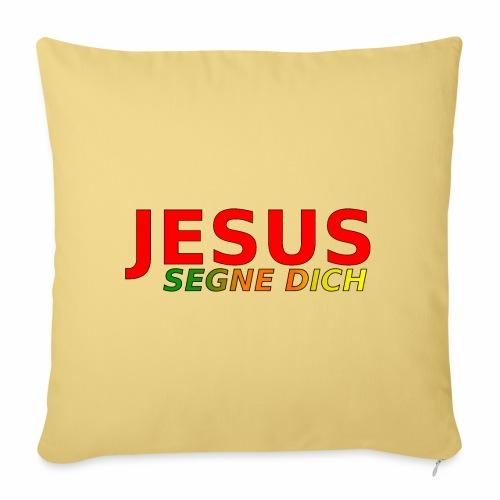 JESUS segne dich - bunt - Sofakissenbezug 44 x 44 cm