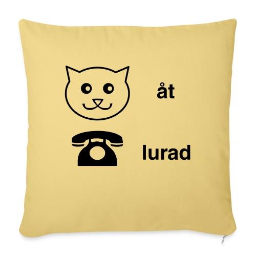Katt åt telefon - Soffkuddsöverdrag, 45 x 45 cm