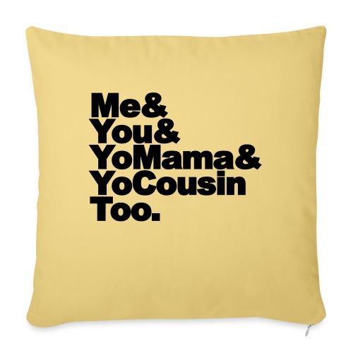 Outkast - Me, You, Yomama and Yocousin too - Sierkussenhoes, 45 x 45 cm
