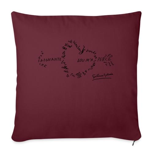 calligramme_fleche_saignante - Housse de coussin décorative 45x 45cm